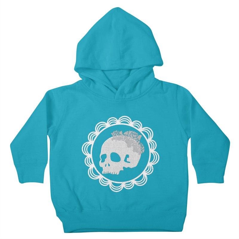 Skull & Roses Kids Toddler Pullover Hoody by Relkcruts's Artist Shop