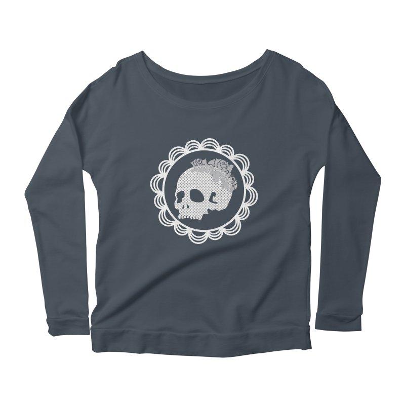 Skull & Roses Women's Longsleeve Scoopneck  by Relkcruts's Artist Shop