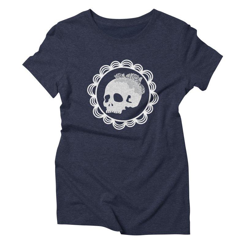 Skull & Roses Women's Triblend T-Shirt by Relkcruts's Artist Shop