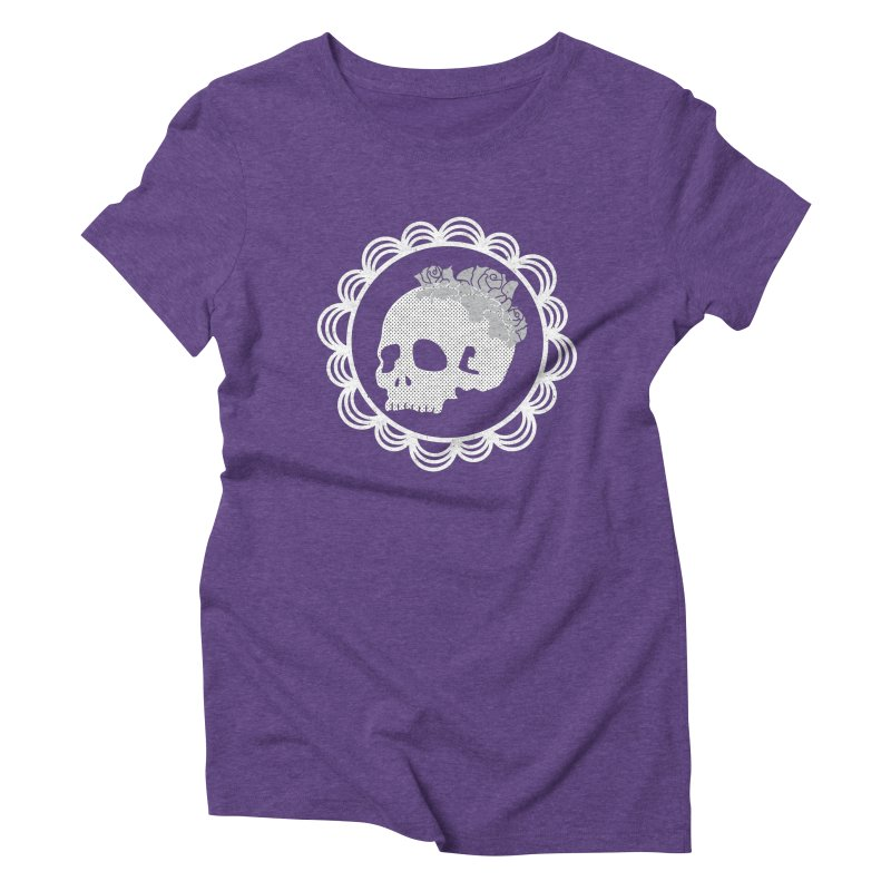 Skull & Roses Women's Triblend T-Shirt by Relkcruts's Artist Shop