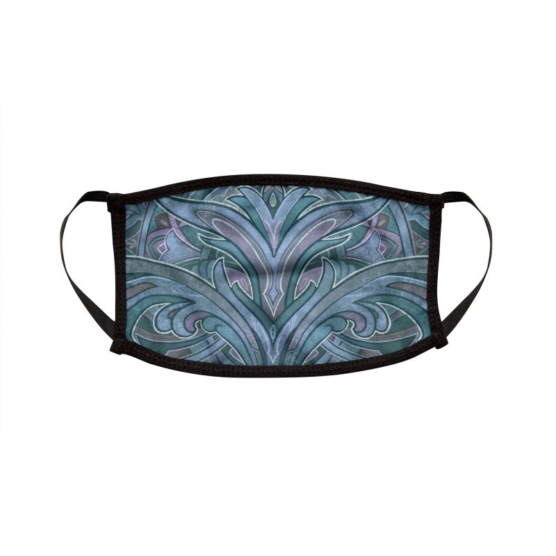 Terry Ribera Art Nouvea face Mask Blue Accessories Face Mask by RemingtonTattoo's Artist Shop
