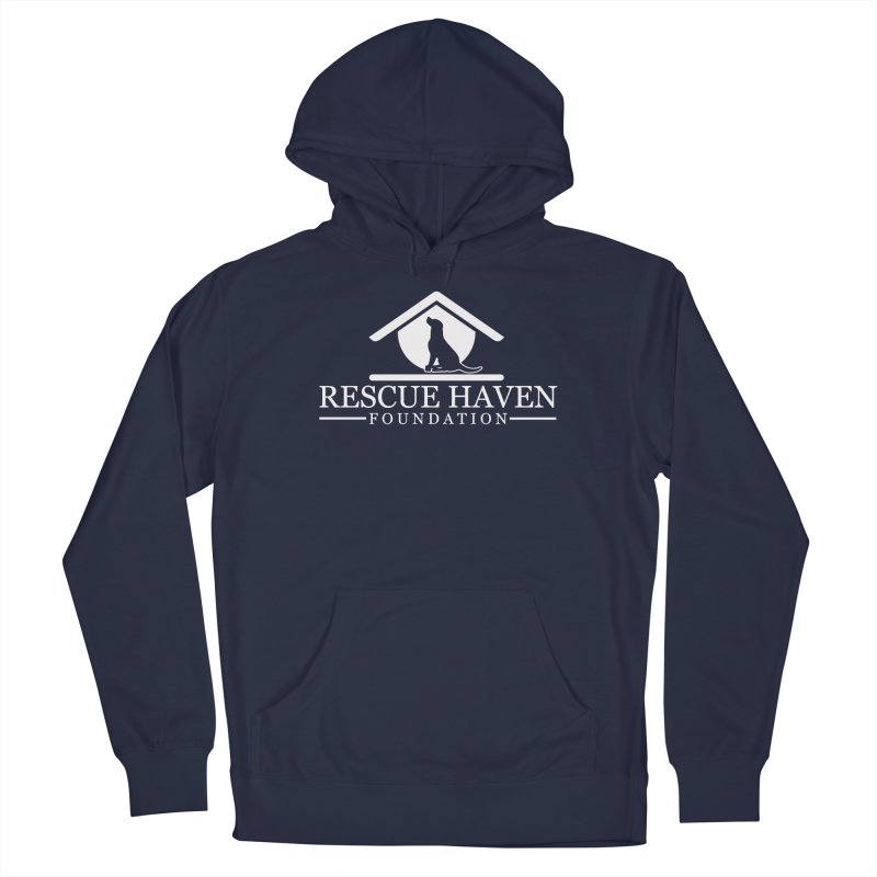 RHF White Logo Men's Pullover Hoody by Rescue Haven Foundation Shop