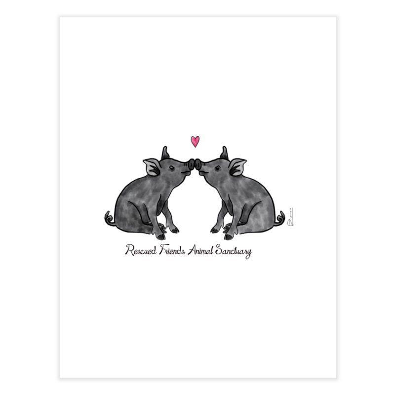 Pumba Loves Lily Home Fine Art Print by RescuedFriends 's Artist Shop