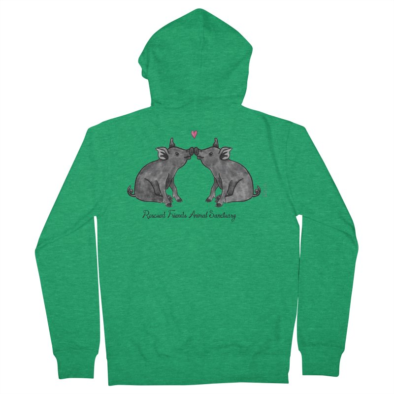 Pumba Loves Lily Men's Zip-Up Hoody by RescuedFriends 's Artist Shop