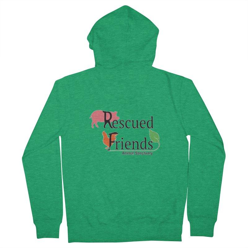 Original Rescued Friends Logo Men's Zip-Up Hoody by RescuedFriends 's Artist Shop