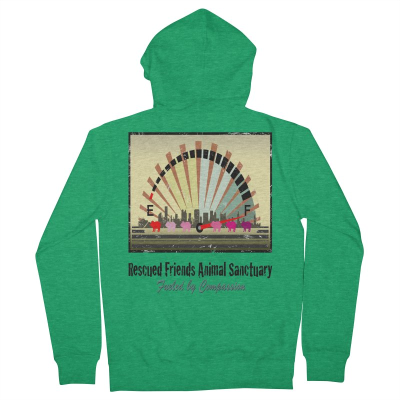 Fueled by Compassion Gauge Men's Zip-Up Hoody by RescuedFriends 's Artist Shop