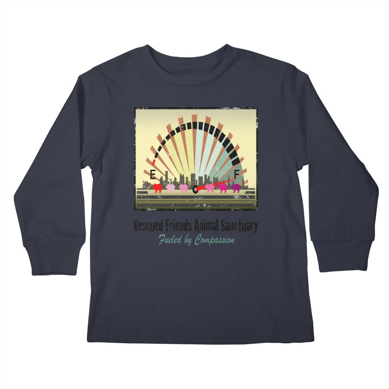 Fueled by Compassion Gauge Kids Longsleeve T-Shirt by RescuedFriends 's Artist Shop