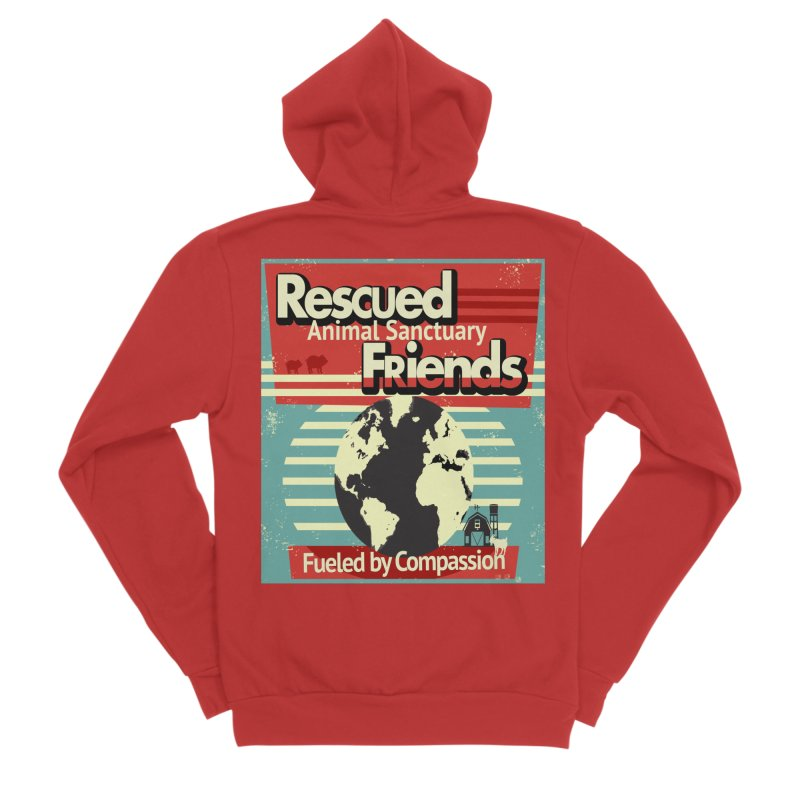 Fueled by Compassion World Graphic Men's Zip-Up Hoody by RescuedFriends 's Artist Shop
