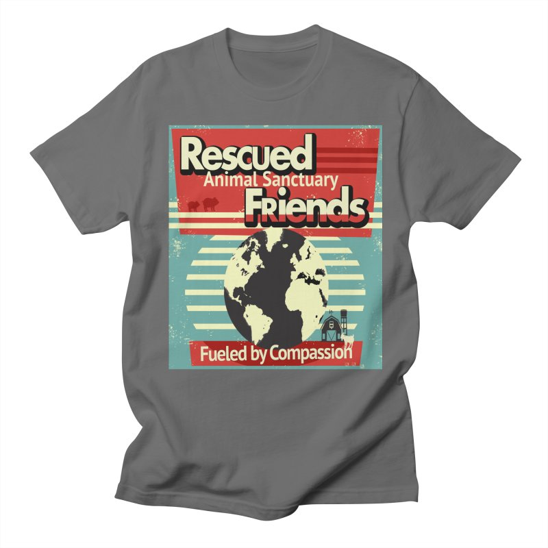 Fueled by Compassion World Graphic Men's T-Shirt by RescuedFriends 's Artist Shop