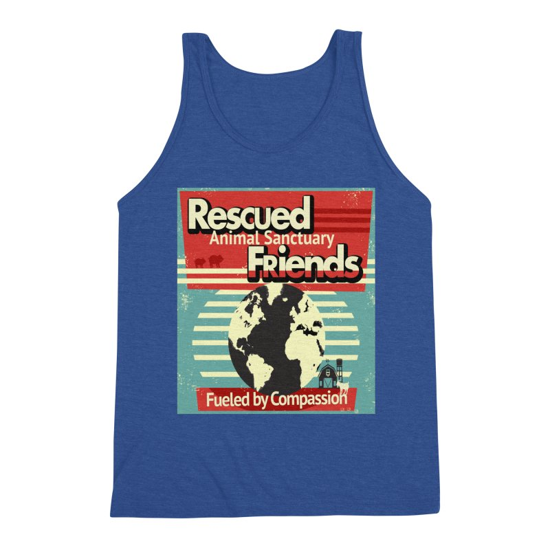 Fueled by Compassion World Graphic Men's Tank by RescuedFriends 's Artist Shop