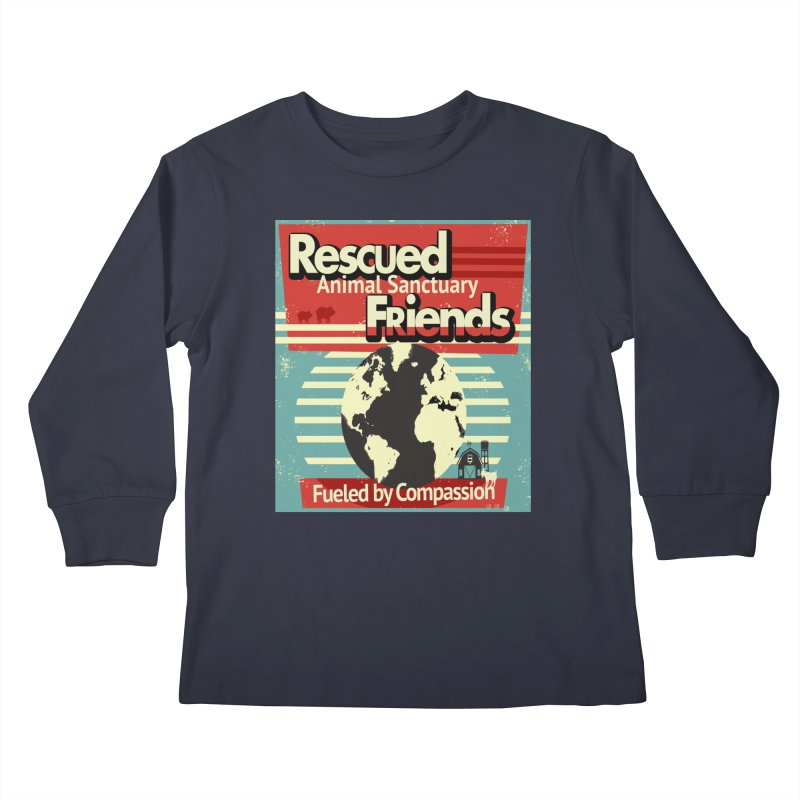 Fueled by Compassion World Graphic Kids Longsleeve T-Shirt by RescuedFriends 's Artist Shop