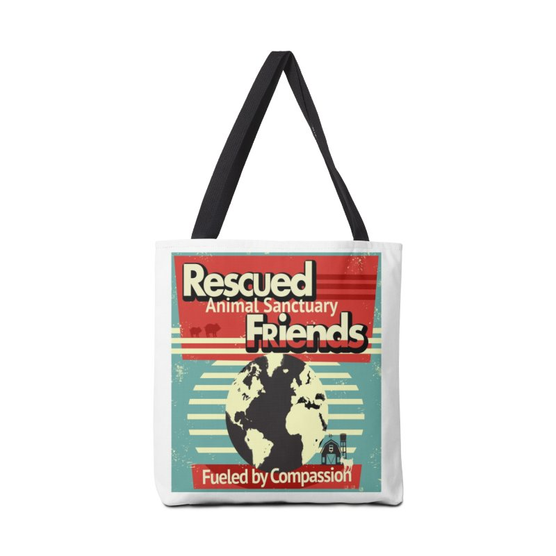 Fueled by Compassion World Graphic Accessories Bag by RescuedFriends 's Artist Shop