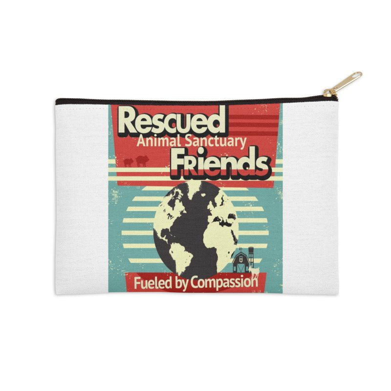 Fueled by Compassion World Graphic Accessories Zip Pouch by RescuedFriends 's Artist Shop