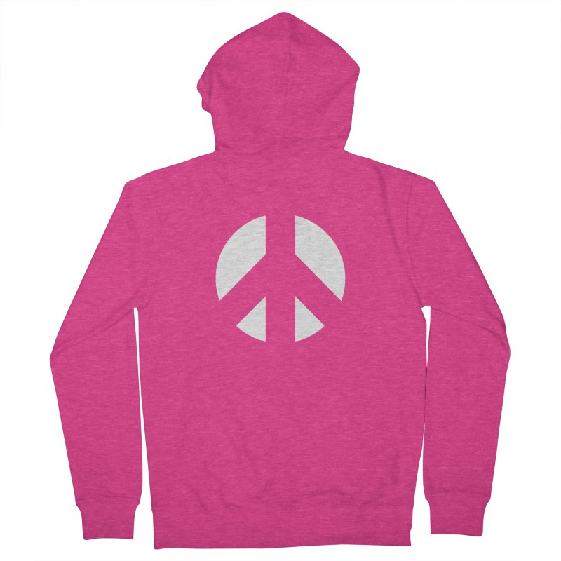 Peace - white Women's French Terry Zip-Up Hoody by Resist Hate