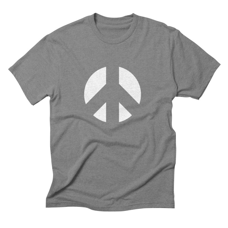 Peace - white Men's Triblend T-Shirt by Resist Hate
