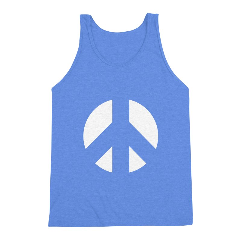 Peace - white Men's Triblend Tank by Resist Hate
