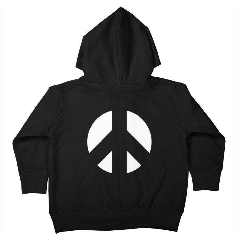 Peace - white Kids Toddler Zip-Up Hoody by Resist Hate
