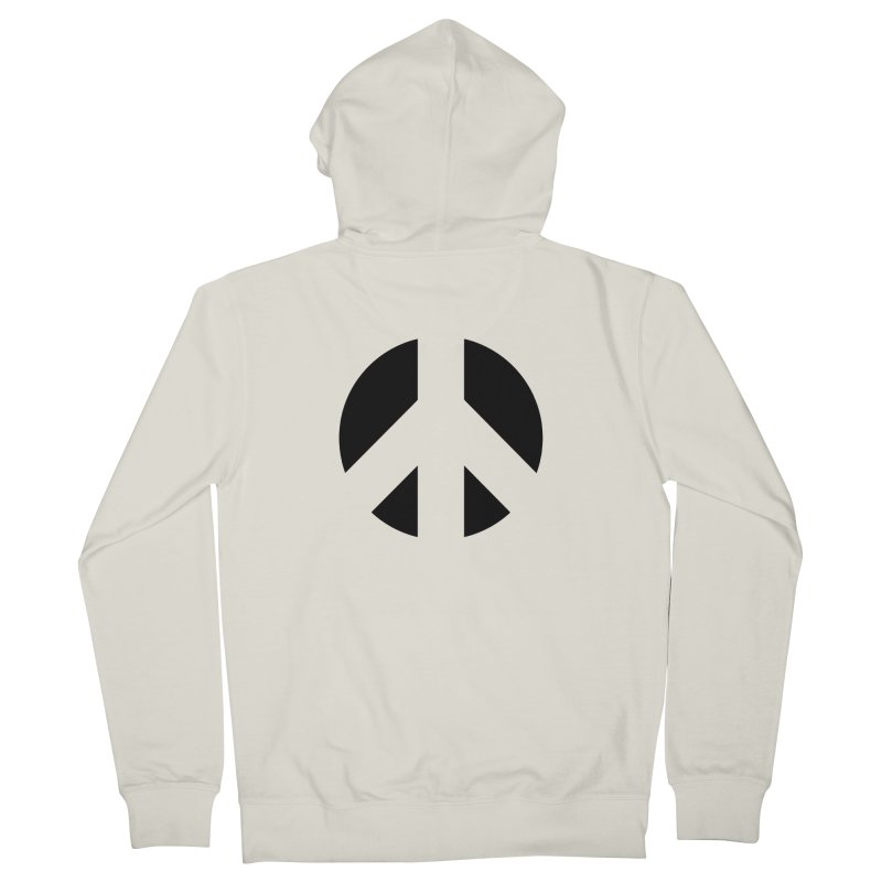 Peace - black Men's French Terry Zip-Up Hoody by Resist Hate