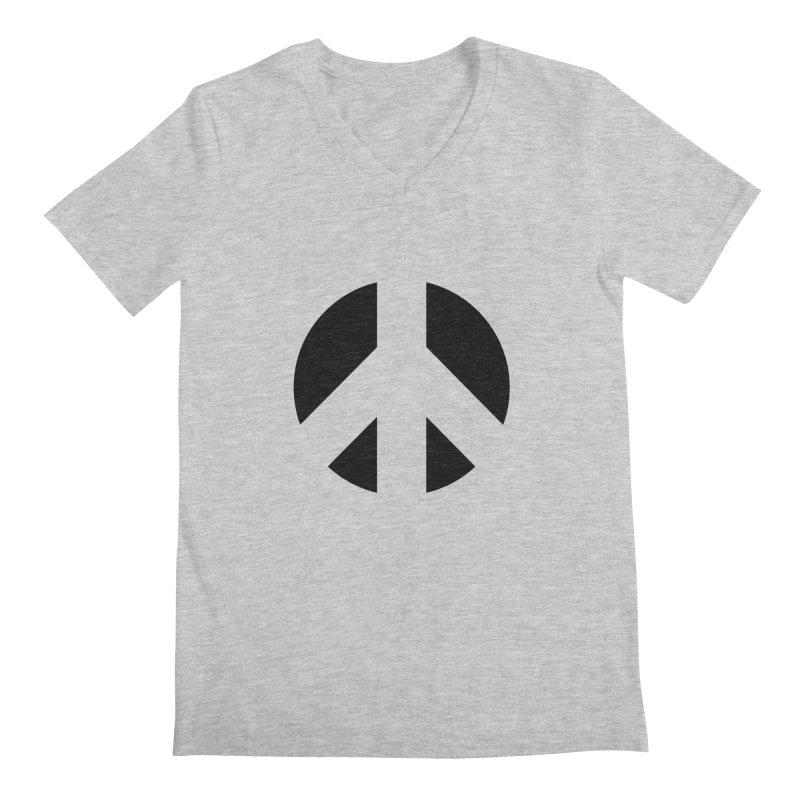 Peace - black Men's Regular V-Neck by Resist Hate
