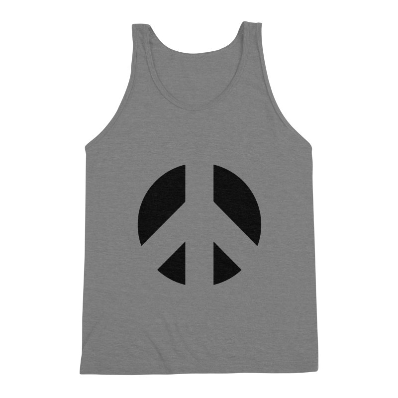 Peace - black Men's Triblend Tank by Resist Hate