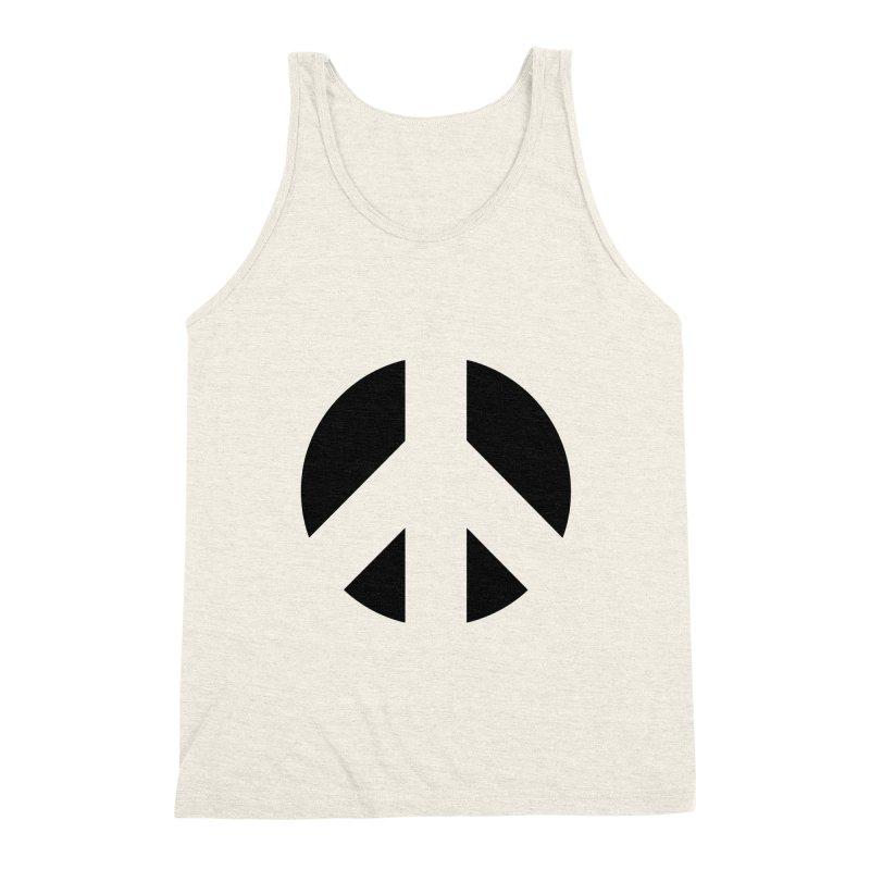 Peace - black Men's Triblend Tank by Resist Hate