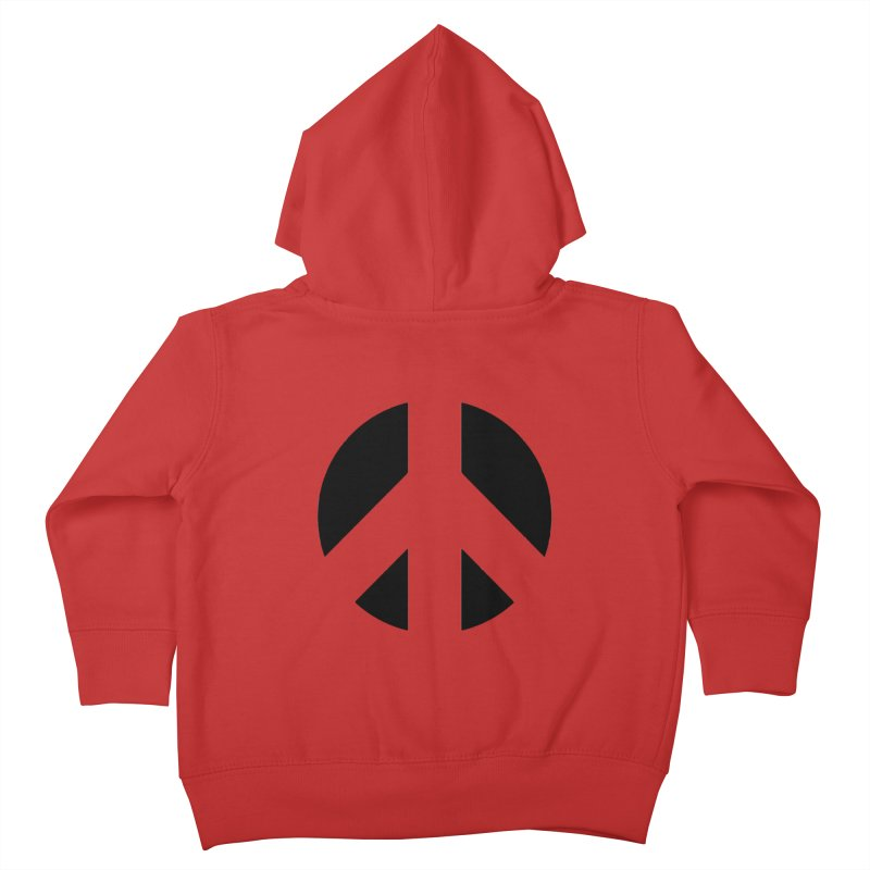 Peace - black Kids Toddler Zip-Up Hoody by Resist Hate