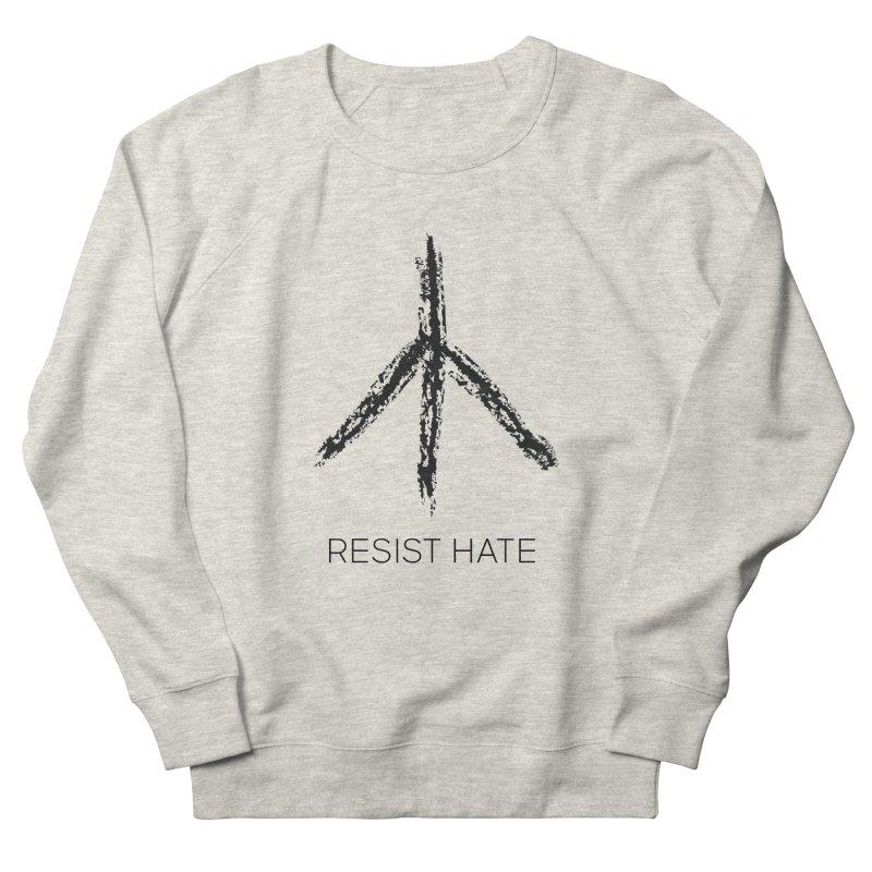 Resist Hate PEACE Men's French Terry Sweatshirt by Resist Hate