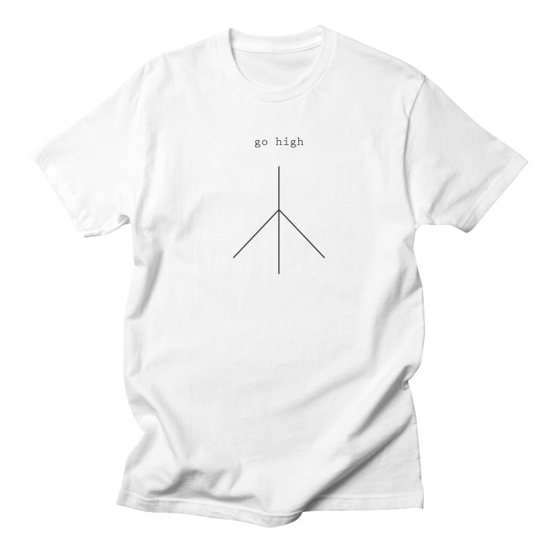 go high peace in Men's Regular T-Shirt White by Resist Hate