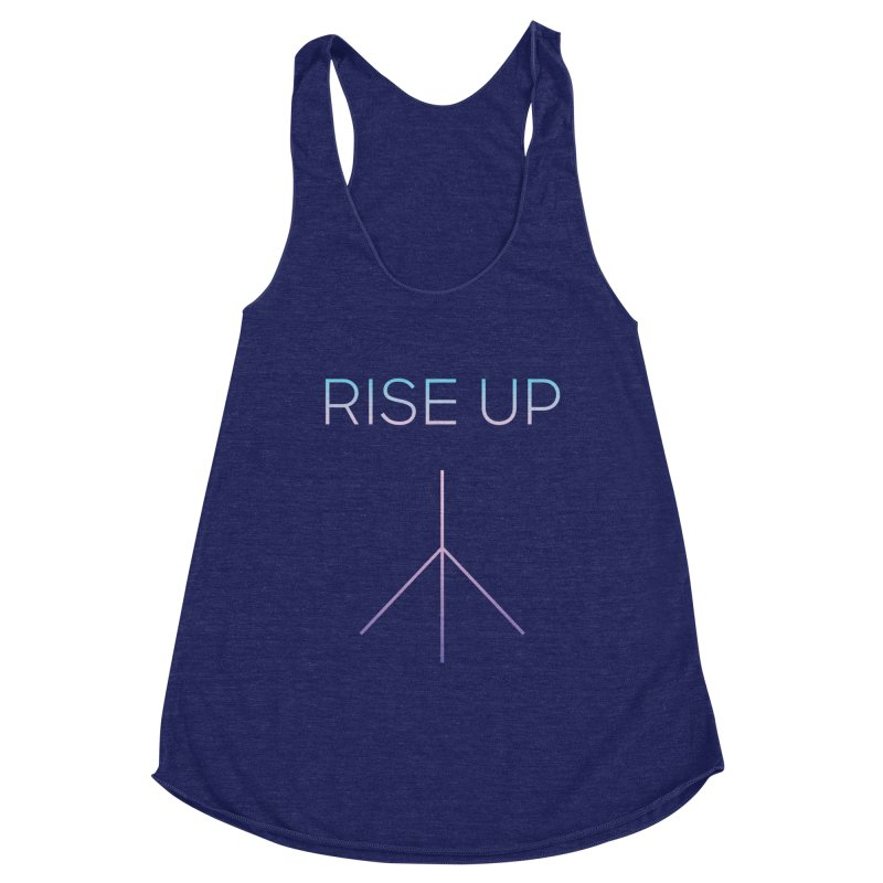 rise up Women's Racerback Triblend Tank by Resist Hate