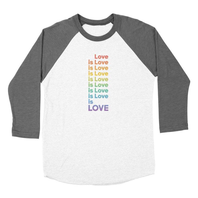 Love is Love rainbow Women's Baseball Triblend Longsleeve T-Shirt by Resist Hate