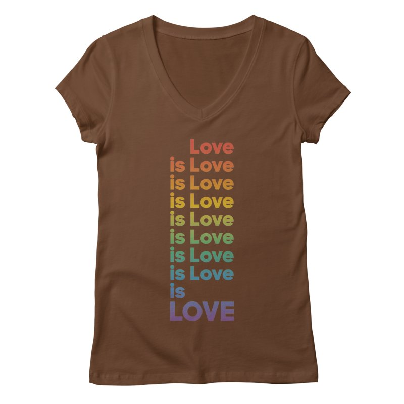 Love is Love rainbow Women's Regular V-Neck by Resist Hate