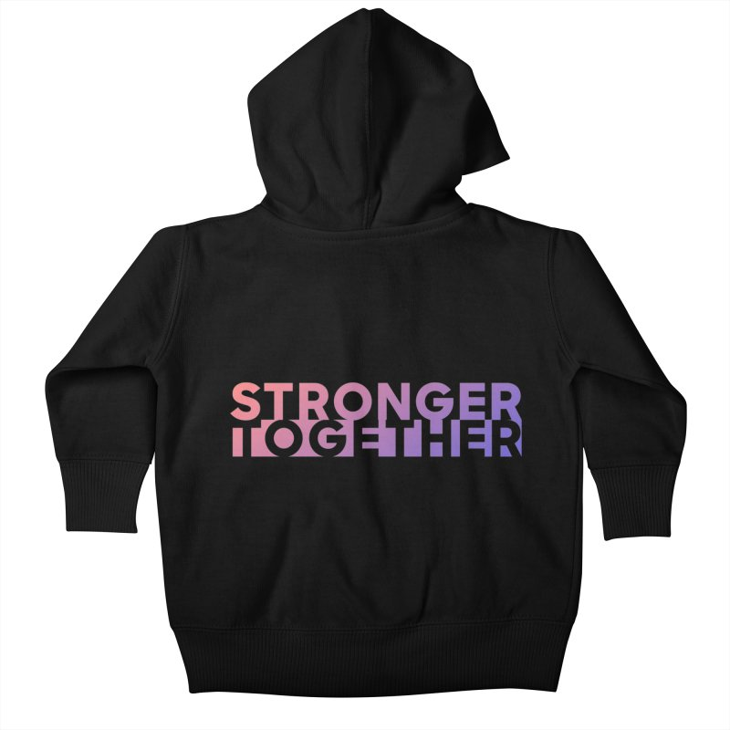 Stronger Together Kids Baby Zip-Up Hoody by Resist Hate