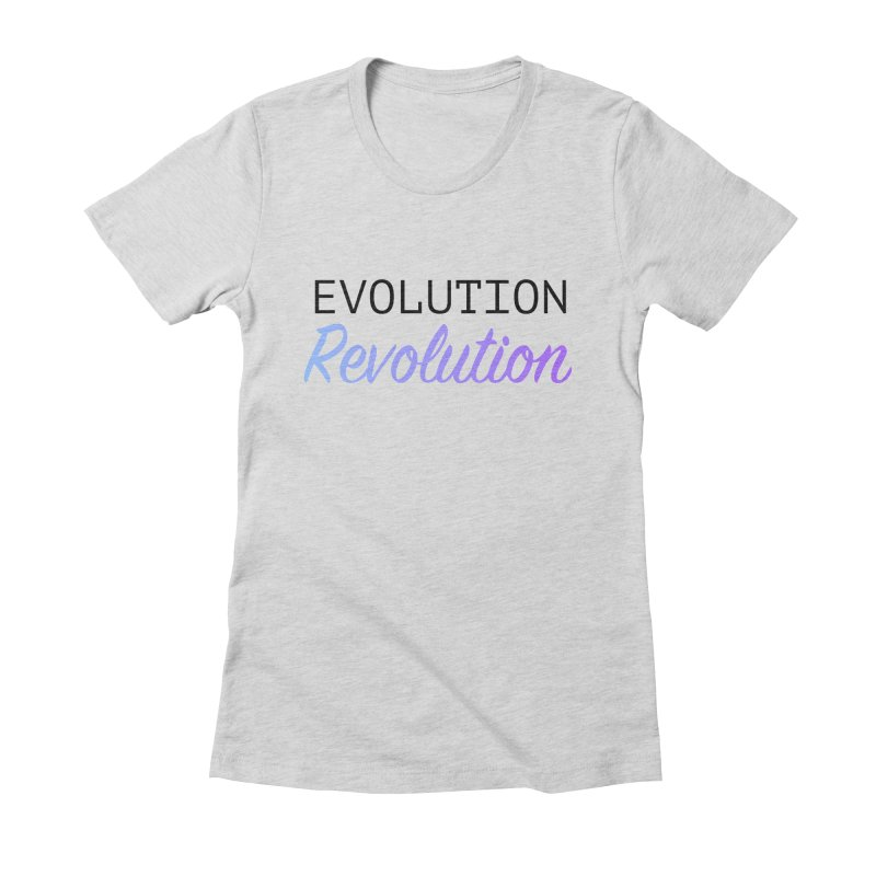 Evolution Revolution in Women's Fitted T-Shirt Heather Grey by Resist Hate