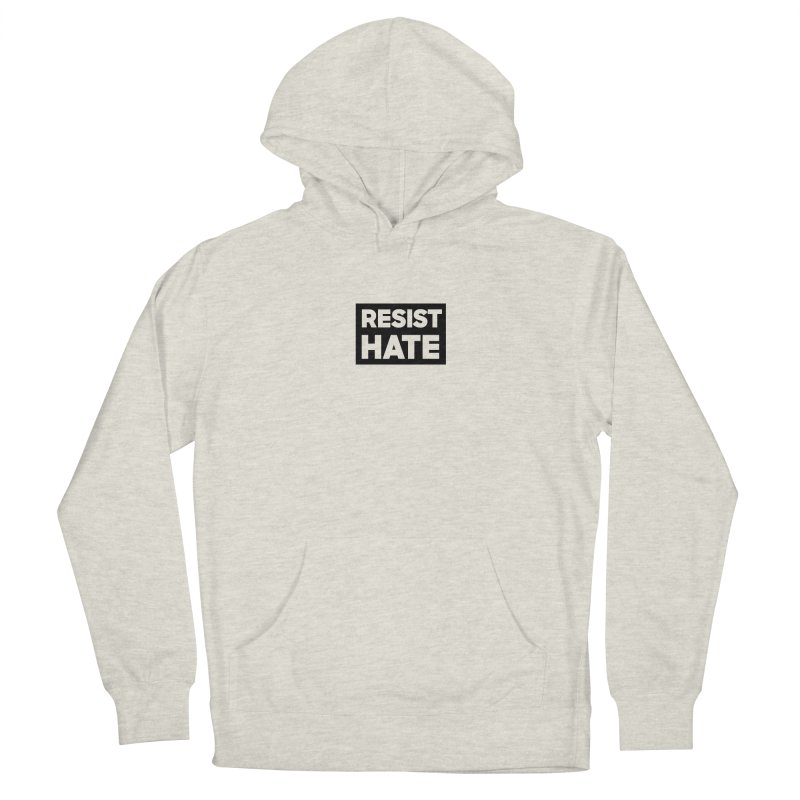 Resist Hate Square Men's French Terry Pullover Hoody by Resist Hate