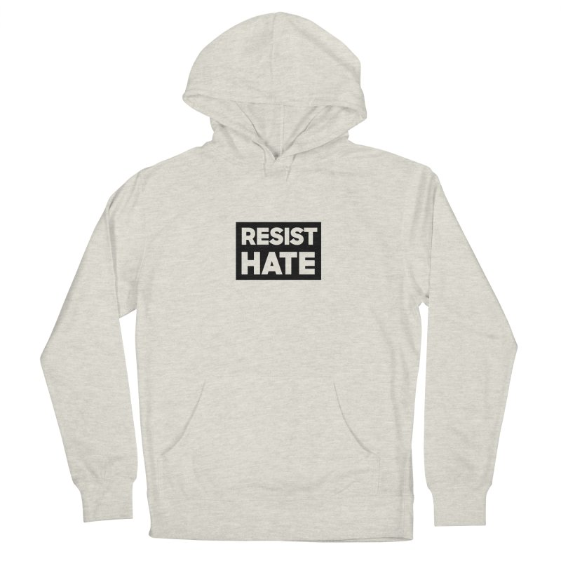 Resist Hate Square Women's French Terry Pullover Hoody by Resist Hate