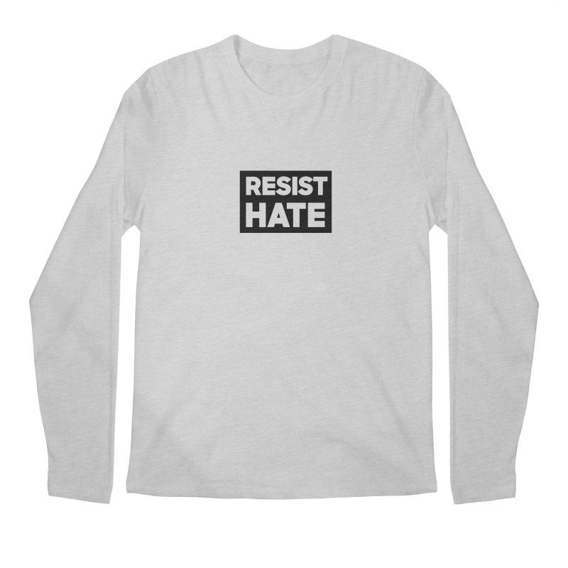 Resist Hate Square Men's Regular Longsleeve T-Shirt by Resist Hate