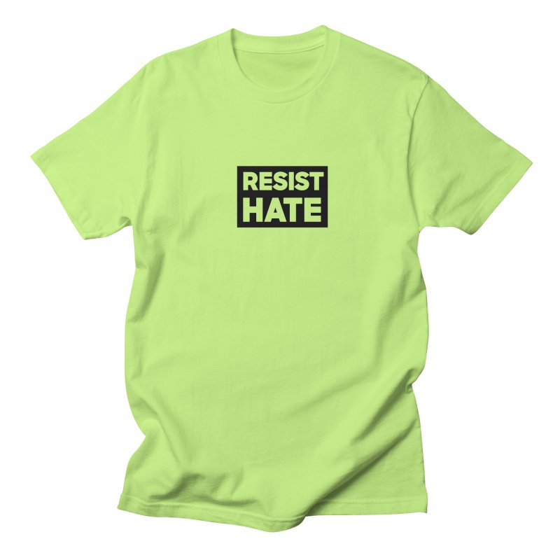 Resist Hate Square Men's Regular T-Shirt by Resist Hate