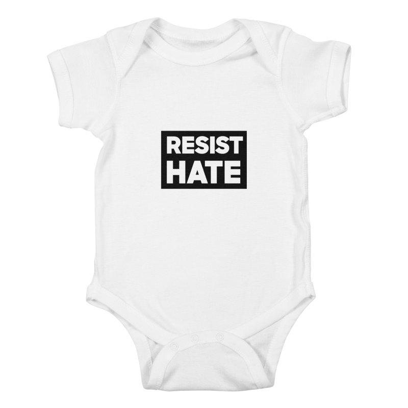 Resist Hate Square Kids Baby Bodysuit by Resist Hate