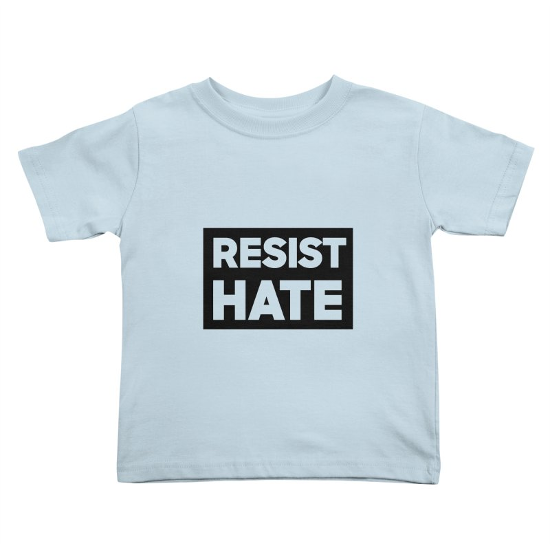 Resist Hate Square Kids Toddler T-Shirt by Resist Hate