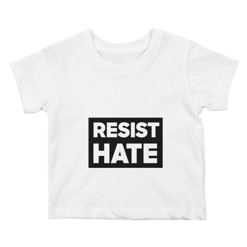 Resist Hate Square Kids Baby T-Shirt by Resist Hate