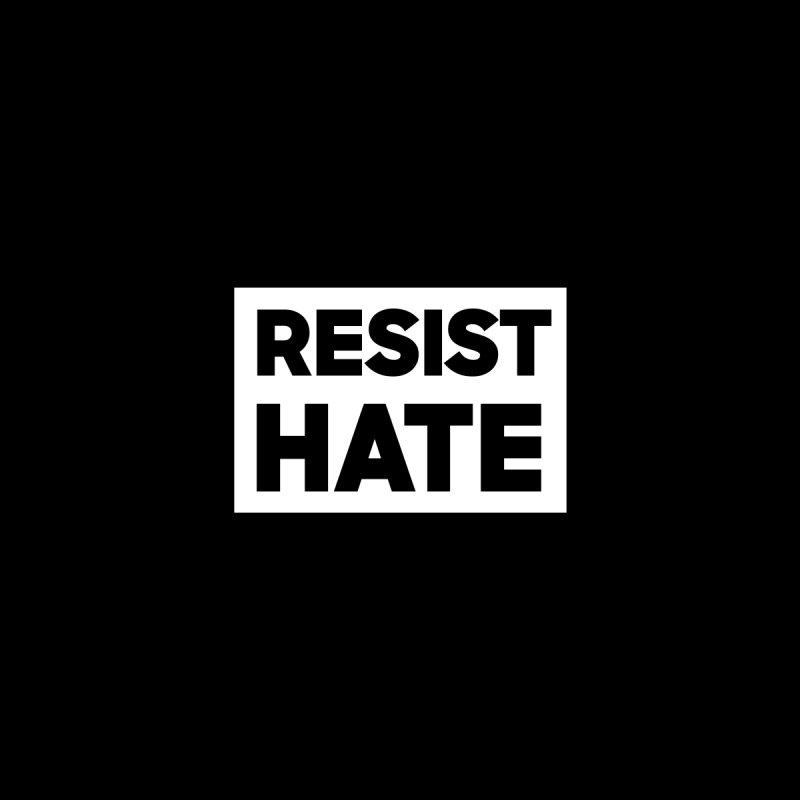Resist Hate White Square Men's Sweatshirt by Resist Hate