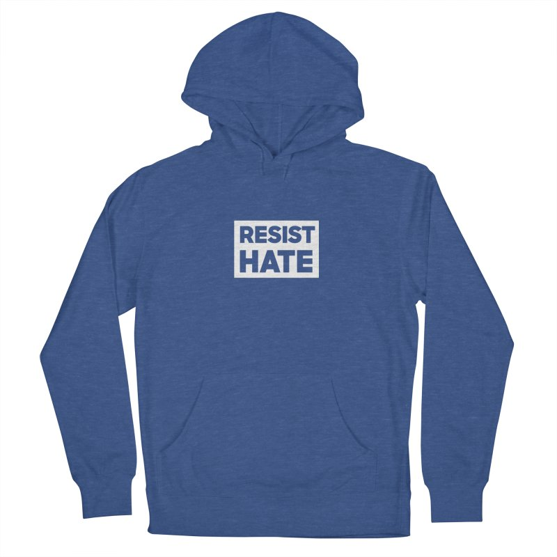 Resist Hate White Square Women's French Terry Pullover Hoody by Resist Hate