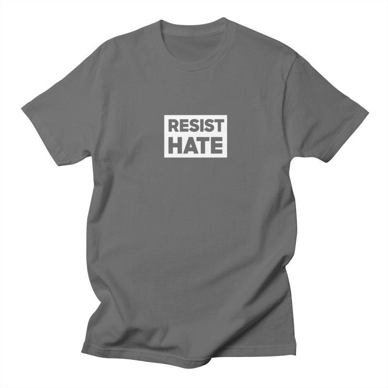 Resist Hate White Square Women's Regular Unisex T-Shirt by Resist Hate
