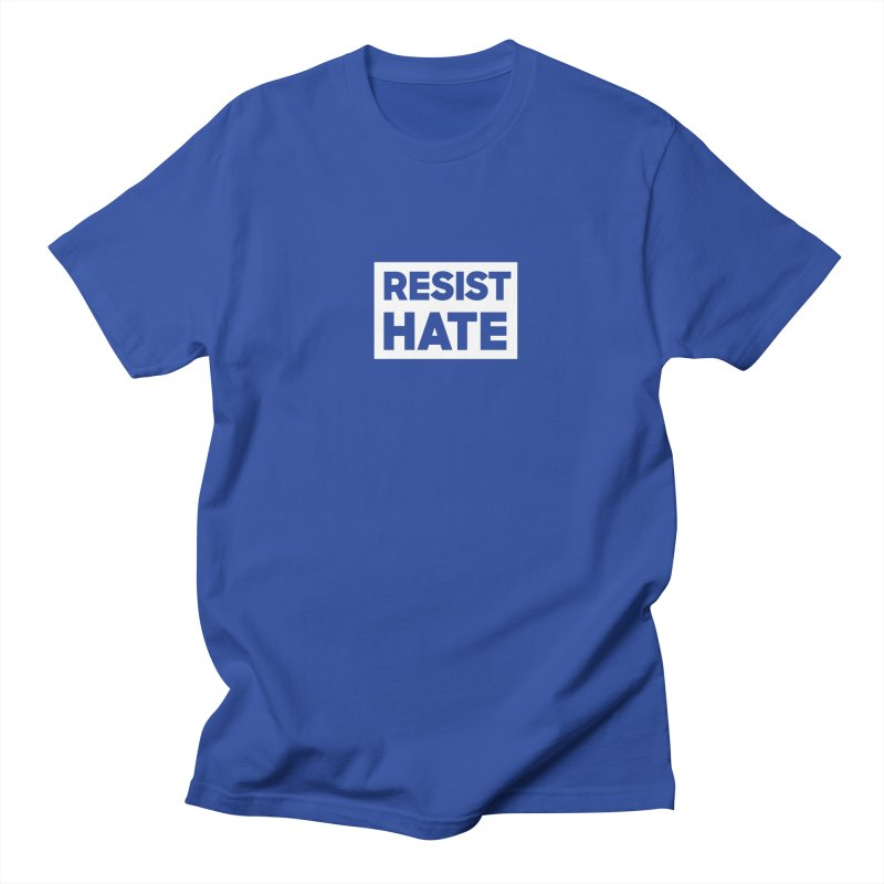 Resist Hate White Square Men's Regular T-Shirt by Resist Hate