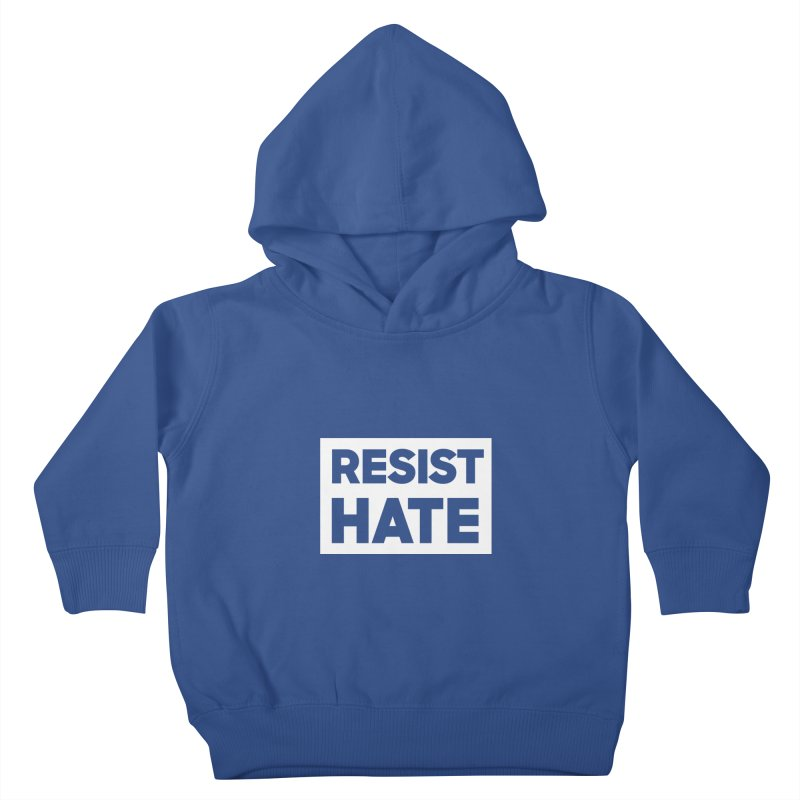 Resist Hate White Square Kids Toddler Pullover Hoody by Resist Hate