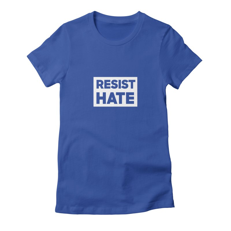 Resist Hate White Square Women's Fitted T-Shirt by Resist Hate