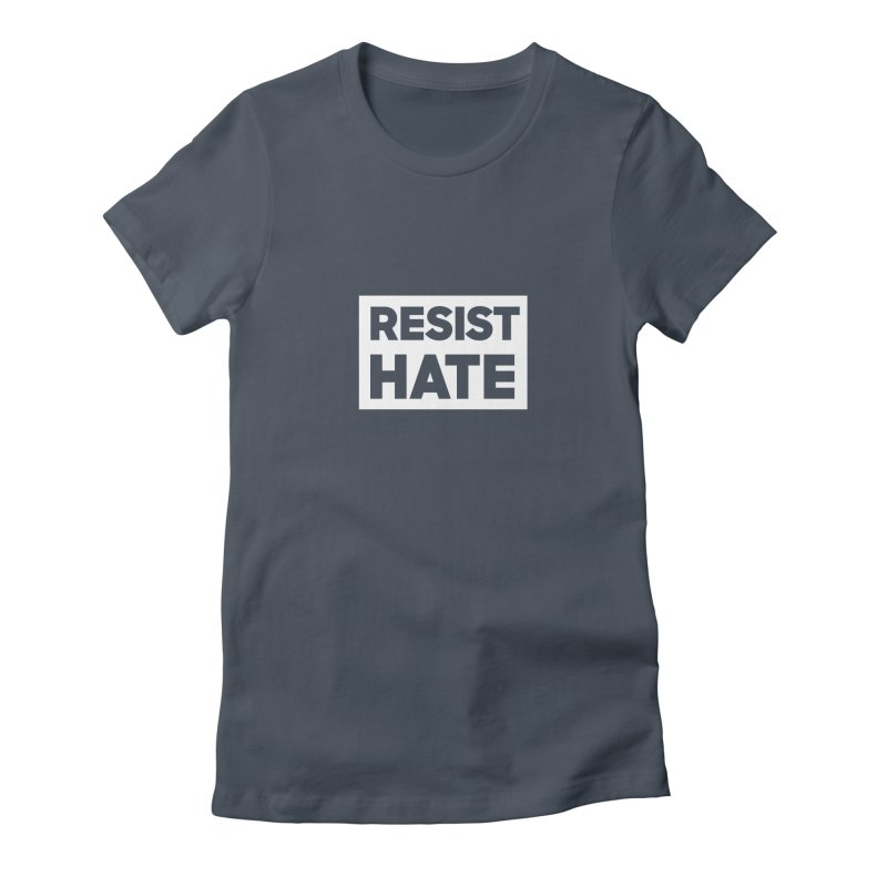 Resist Hate White Square Women's T-Shirt by Resist Hate
