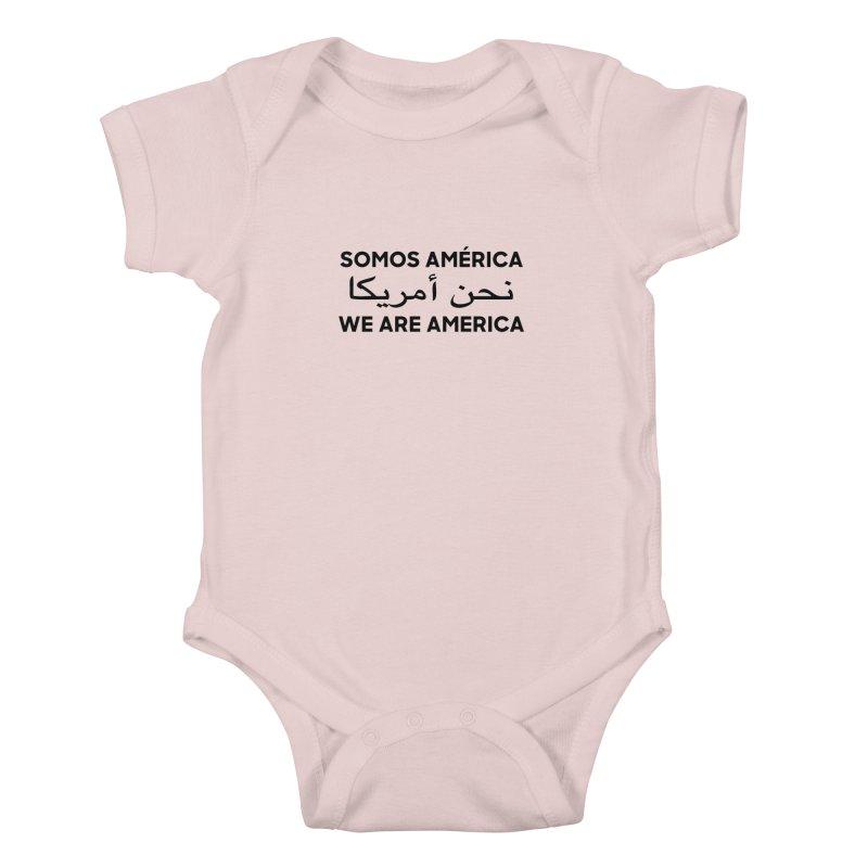 WE ARE AMERICA (black) Kids Baby Bodysuit by Resist Hate