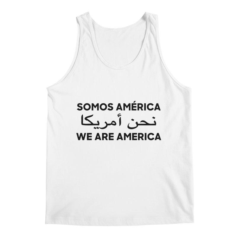 WE ARE AMERICA (black) Men's Regular Tank by Resist Hate