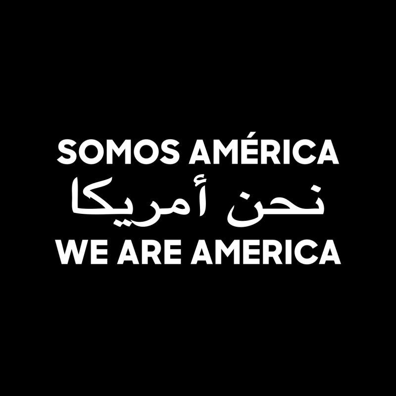 WE ARE AMERICA (white) Men's Sweatshirt by Resist Hate